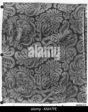 Piece. Date: 17th century; Culture: Italian; Medium: Silk; Dimensions: L. 33 x W. 21 inches (83.8 x 53.3 cm); Classification: - Stock Photo