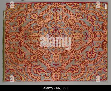 Piece. Date: 17th century; Culture: Spanish; Medium: Silk; Dimensions: 17 1/2 x 23 inches (44.5 x 58.4 cm); Classification: - Stock Photo