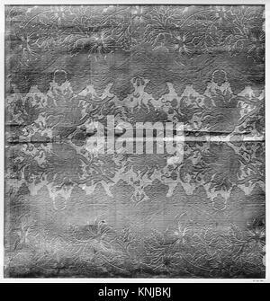 Piece. Date: 17th century; Culture: Spanish; Medium: Silk; Dimensions: 21 x 19 inches (53.3 x 48.3 cm); Classification: - Stock Photo