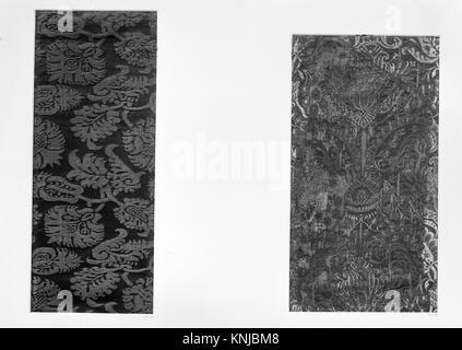 Piece. Date: 17th century; Culture: Spanish; Medium: Silk; Dimensions: Overall: 18 x 7 1/2 in. (45.7 x 19.1 cm); - Stock Photo