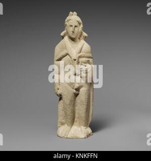 Limestone statuette of Pan. Period: Hellenistic; Date: 310-30 B.C; Culture: Cypriot; Medium: Limestone; Dimensions: - Stock Photo