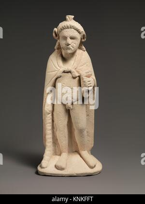 Limestone statuette of Pan or Opaon Melanthios. Period: Hellenistic; Date: 3rd century B.C; Culture: Cypriot; Medium: - Stock Photo