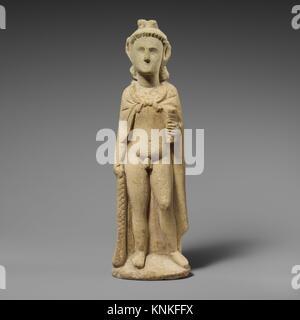 Limestone statuette of Pan. Period: Hellenistic; Date: 3rd-1st century B.C; Culture: Cypriot; Medium: Limestone; - Stock Photo