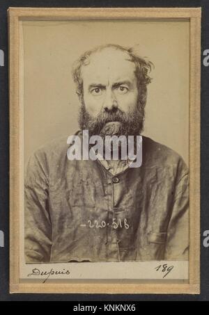 Dupuis. Augustin. 53 ans, né le 24/6/41 à Dourdan (Seine & Oise). Charron, forgeron. Anarchiste. 3/7/94. Artist: - Stock Photo