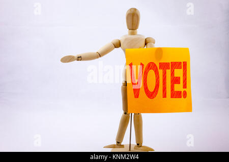 Conceptual hand writing text caption inspiration showing Vote Business concept for Voting Electoral Vote written - Stock Photo