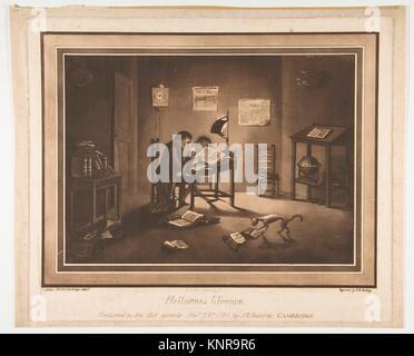 Helluones librorum (Bookworms). Artist: Joshua Kirby Baldrey (British, 1754-1828); Artist: Aquatint by Francis Jukes - Stock Photo