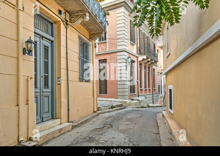 The picturesque buildings of Plaka in Athens, Greece - Stock Photo