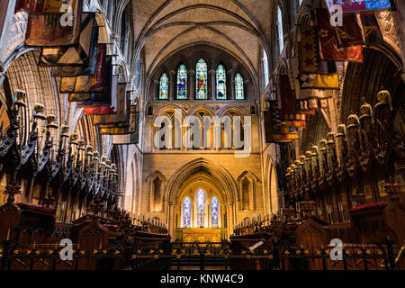St. Patrick Cathedral Front Interior Dublin Ireland Famous Architecture - Stock Photo