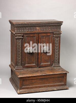 Prie Dieu (Prayer desk). Date: second half 16th century (mostly late); Culture: Italian; Medium: Walnut; Dimensions: - Stock Photo