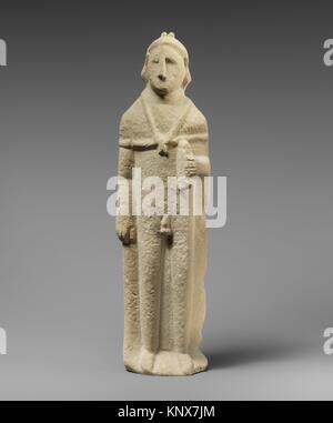 Limestone statuette of Pan. Period: Hellenistic or Roman; Culture: Cypriot; Medium: Limestone; Dimensions: Overall: - Stock Photo