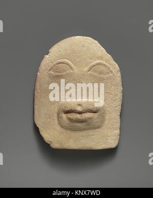 Limestone votive relief of eyes and a mouth. Period: Late Classical-Hellenistic; Date: 4th or 3rd century B.C; Culture: - Stock Photo