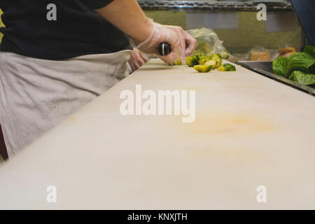 Food being prepared in a restaurant. - Stock Photo