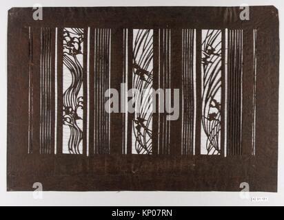 Stencil. Date: 19th century; Culture: Japan; Medium: Paper, silk; Dimensions: 11 x 16 in. (27.9 x 40.6 cm); Classification: - Stock Photo