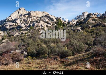 Pedriza Anterior Regional Park del Ato Manzanares. Manzanares el Real. Madrid. Spain. Europe. - Stock Photo