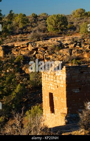 Stronghold House, Hovenweep National Monument, Utah. - Stock Photo