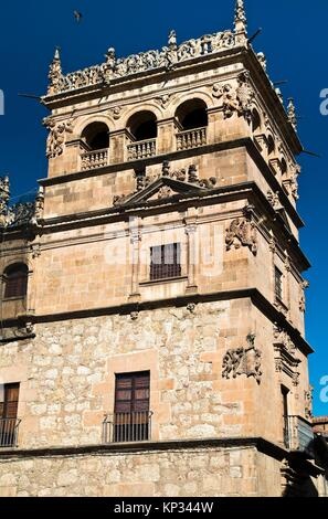 Torre del Palacio de Monterrey. Salamanca. Castilla-León. España. Europa. - Stock Photo