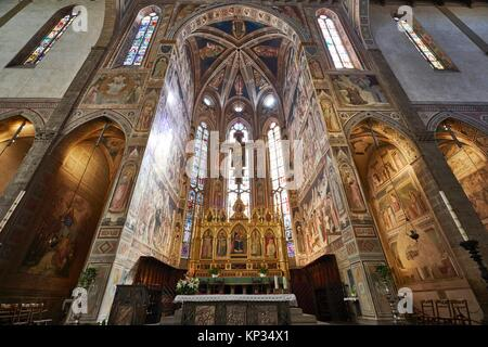 The Basilica di Santa Croce (Basilica of the Holy Cross) is the principal Franciscan church in Florence, Italy, - Stock Photo