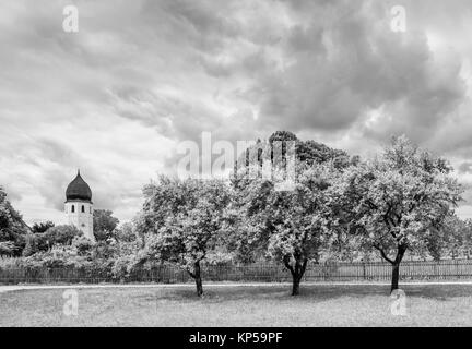 abbey frauenwoerth,frauenchiemsee,chiemgau,bayern,germany - Stock Photo