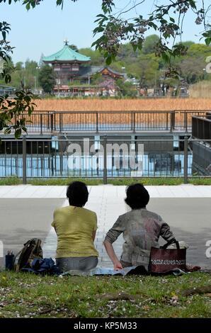Ueno park,Bentendo temple,Tokyo, Japan,Asia. - Stock Photo
