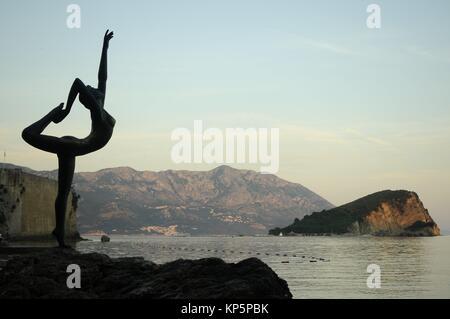 Ballet dancer at Budva in Montenegro - Stock Photo