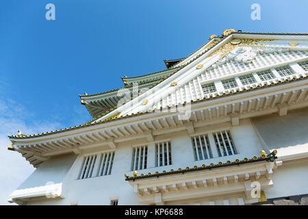 Osaka Castle in Japan Kansai district - Stock Photo