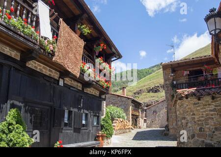 Barcena Mayor is one of the most beautiful villages in Spain Cantabria, Spain - Stock Photo