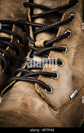 Fragment Leather Winter Boot - Stock Photo