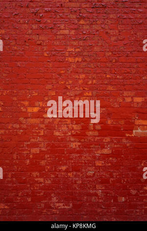 edgewise red brick wall - Stock Photo