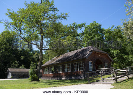 Entrance of the isle of Frauenchiemsee in Bavaria, Germany in summertime - Stock Photo
