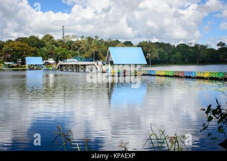 landscape photo of Naung Yar Lake, Loikaw, Kayah State, Myanmar, Oct-2017 - Stock Photo