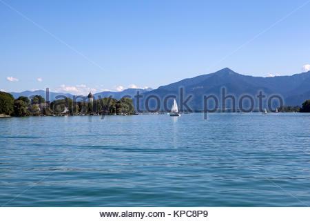 Isle of Frauenchiemsee in Bavaria, Germany - Stock Photo