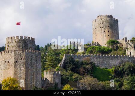 rumeli castle in istanbul - Stock Photo