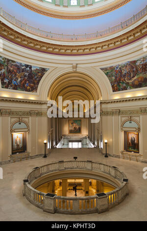 USA, Oklahoma, Oklahoma City, Oklahoma State Capitol Building interior - Stock Photo