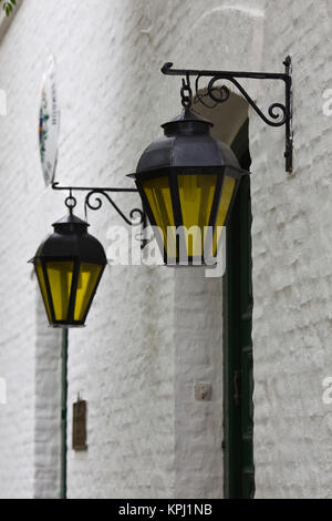 Uruguay, Colonia Department, Colonia del Sacramento. Streetlights. - Stock Photo