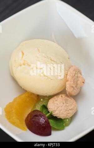 pistachio ice cream - Stock Photo