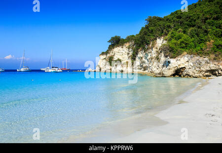 Voutoumi Beach, AntiPaxos, Greece - Stock Photo