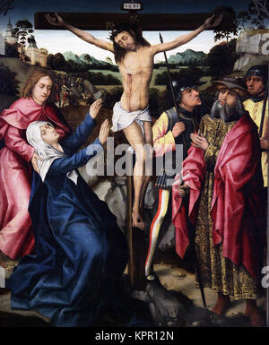 Calvary Calvario by Jan Provoost or Jean Provost or Jan Provost (1462/65 – 1529) a Belgian painter - Stock Photo