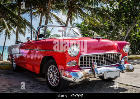american classic car parked in havana cuba - Stock Photo