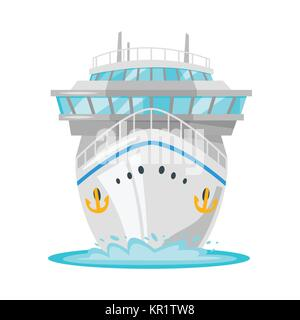 cruise ship - front view - Stock Photo