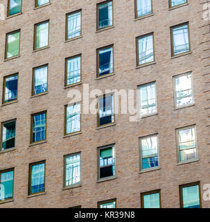 high older brick buildings in New York, Manhattan - Stock Photo