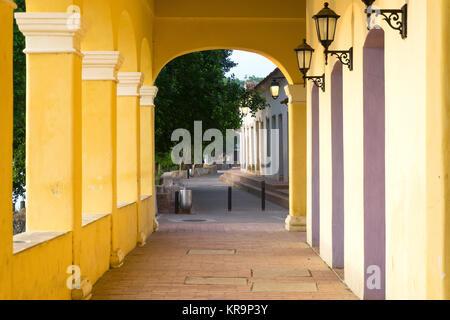 Corridor in Mompox, Colombia - Stock Photo