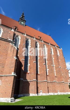 Roman catholic church,Corpus Christi Basilica in Jewish district, Krakow, Poland - Stock Photo