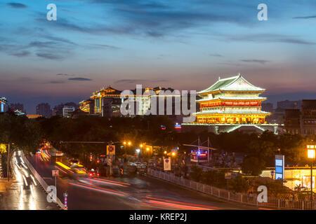 Xian drum tower - Stock Photo