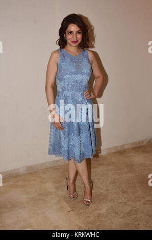 Mumbai, India. 19th Dec, 2017. Indian film actress Tisca Chopra present for the press conference of her short film - Stock Photo