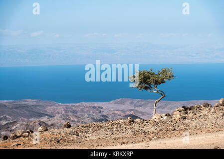 A view of the Gulf of Tadjoura from Arta, Djibouti, East Africa - Stock Photo
