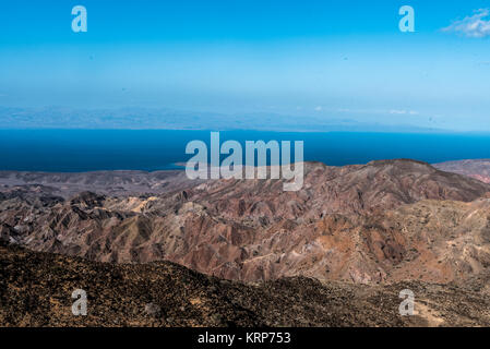 A view of the Gulf of Tadjoura from Arta, Djibouti, East Africa - Mountains of Arta - Stock Photo