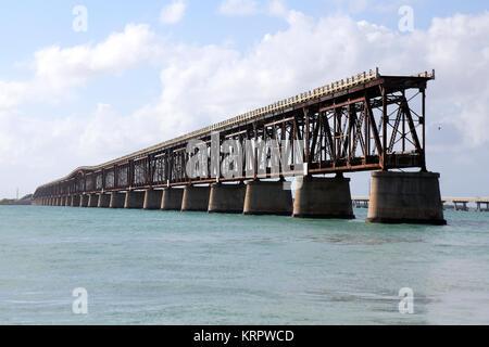 Old Bahia Honda Railroad Bridge, Bahia Honda Key, FL, USA - Stock Photo