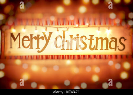 Merry Christmas background - Stock Photo