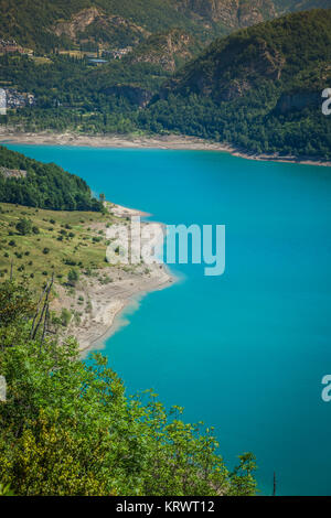 bulbal reservoir,also called swamp bubal is a reservoir located in the spanish pyrenees valle de tena (huesca). - Stock Photo