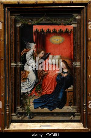 Bernard van Orley (1492-1542). Dutch painter. The Annunciation, ca.1518. National Gallery. Oslo. Norway. - Stock Photo
